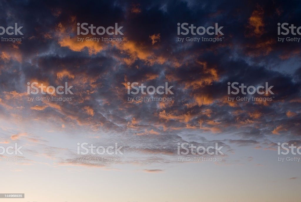 Cloudy Sunrise royalty-free stock photo