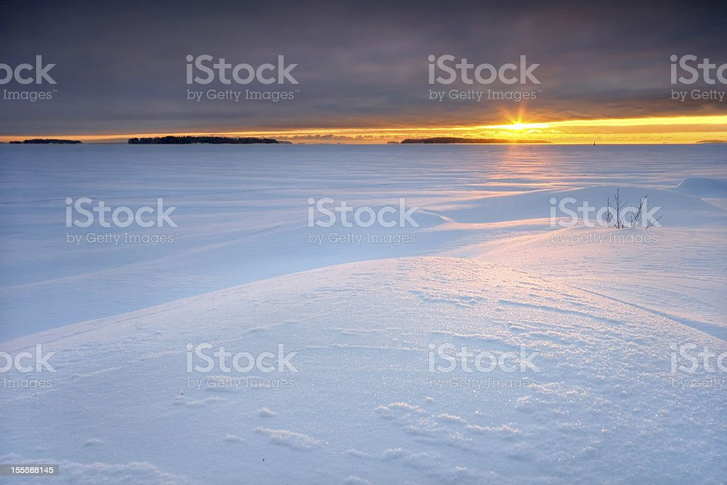Cloudy sunrise royalty-free stock photo
