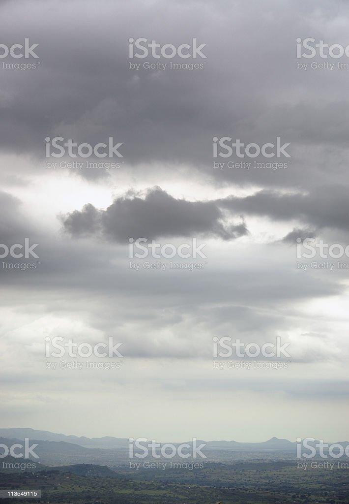 Cloudy Swaziland stock photo