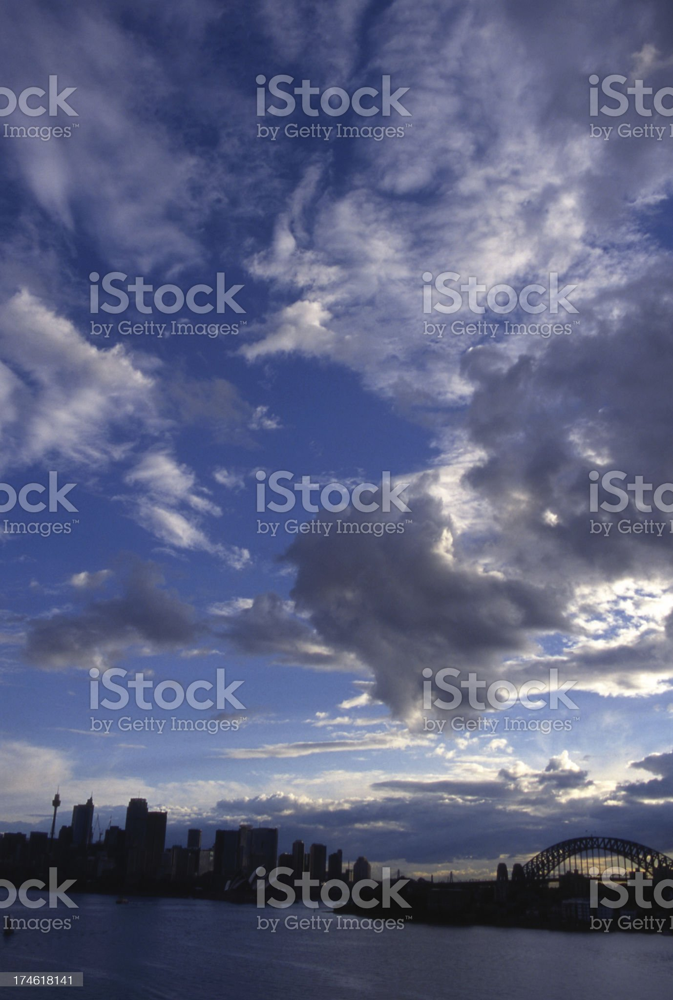 Cloudy Sydney royalty-free stock photo
