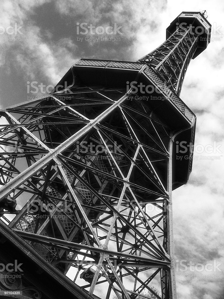 cloudy tower royalty-free stock photo