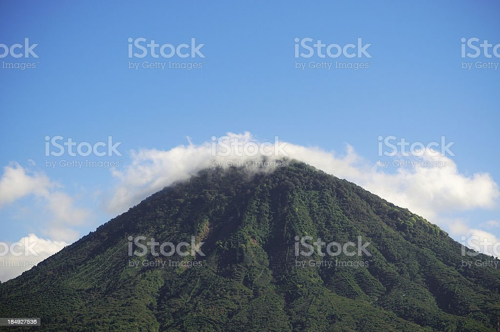 Cloudy volcano royalty-free stock photo