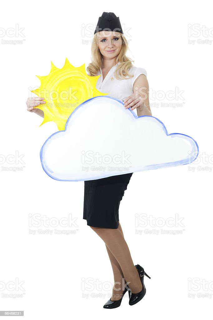 Cloudy weather forecast royalty-free stock photo