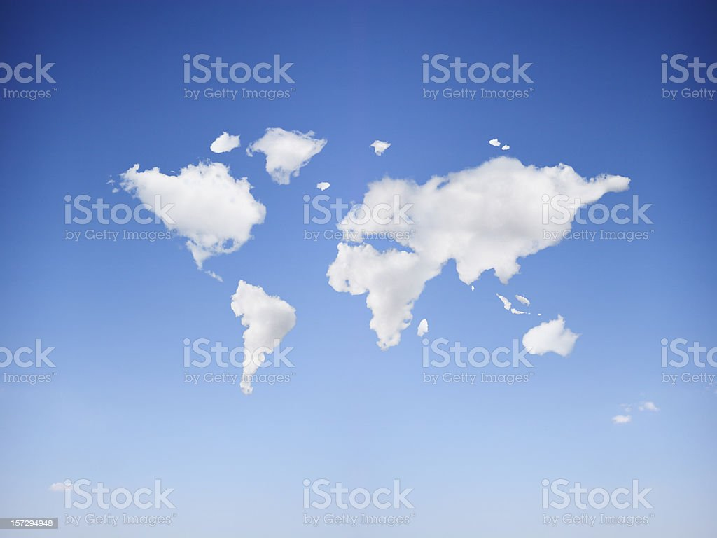 Cloudy world royalty-free stock photo