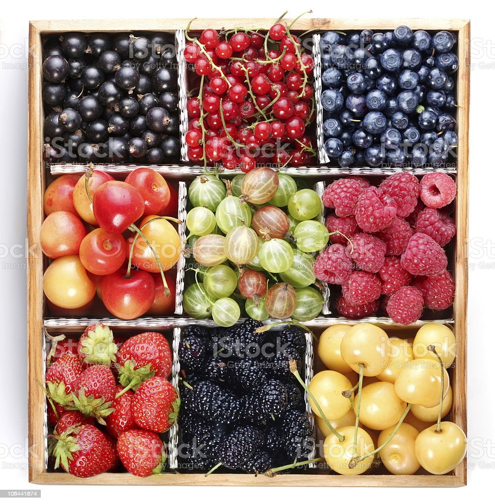 Clourful berries royalty-free stock photo