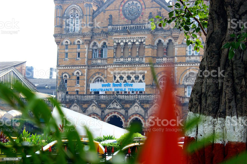 Clouse Up Of main Building of  CSTM stock photo