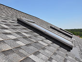 Clouseup of roof windows and skylights
