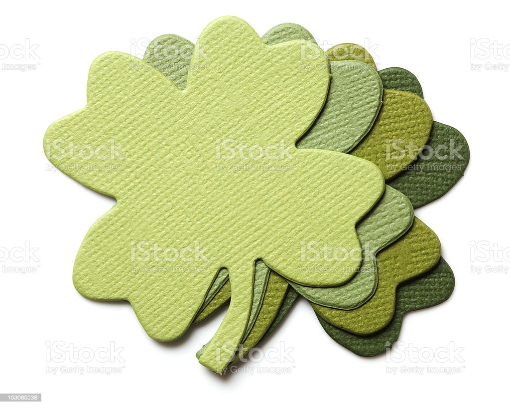 Clover paper royalty-free stock photo