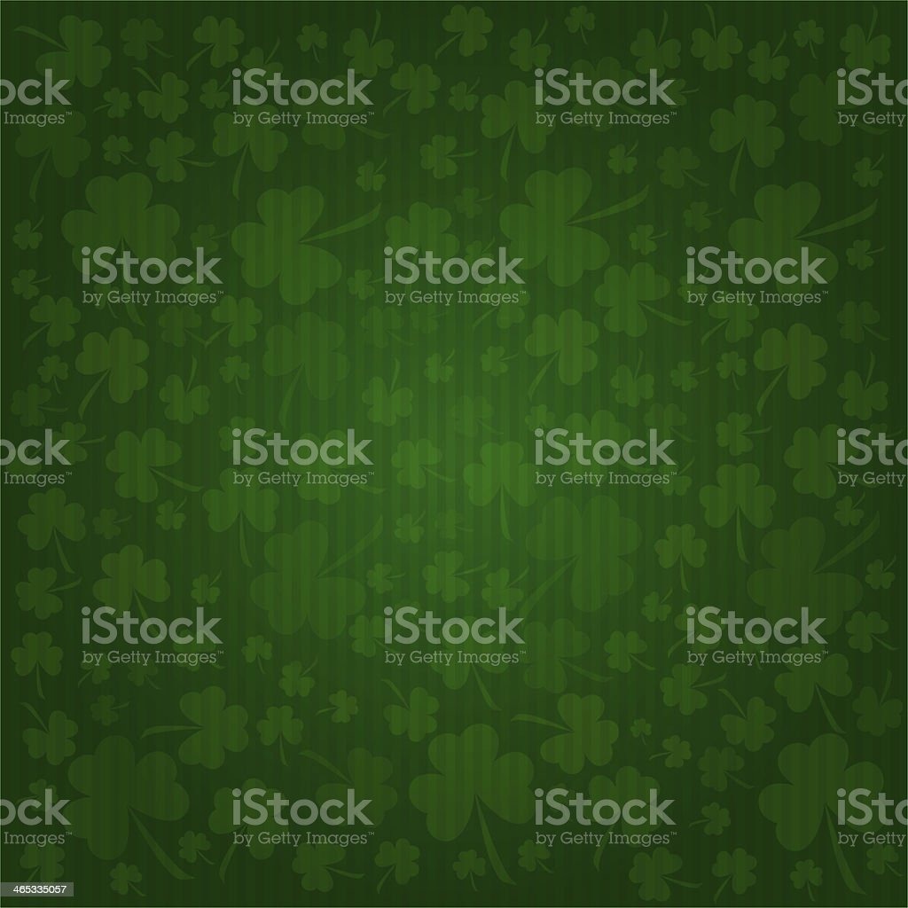 Clovers background on St. Patrick's Day stock photo