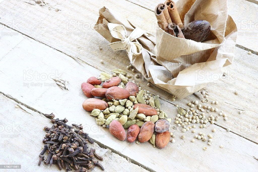 Cloves and cardamom royalty-free stock photo