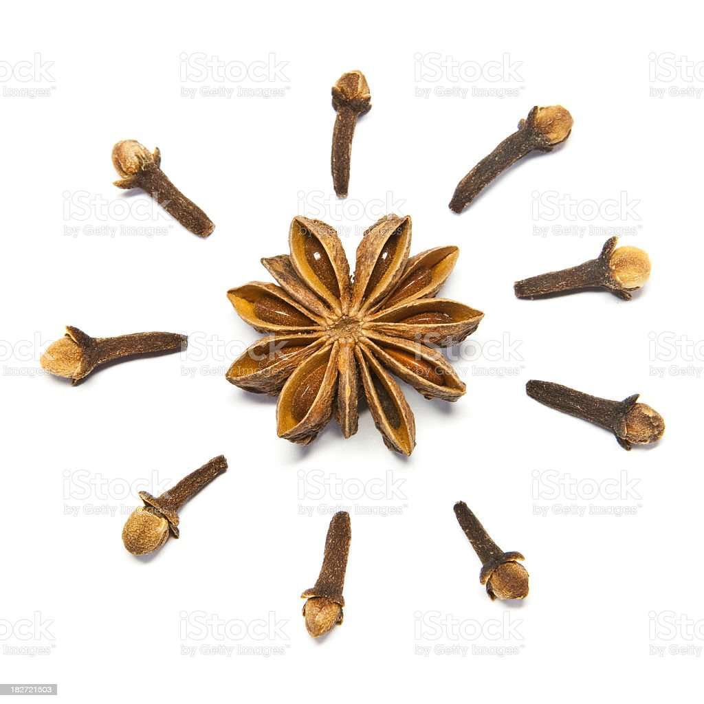 Cloves and Star Anis stock photo