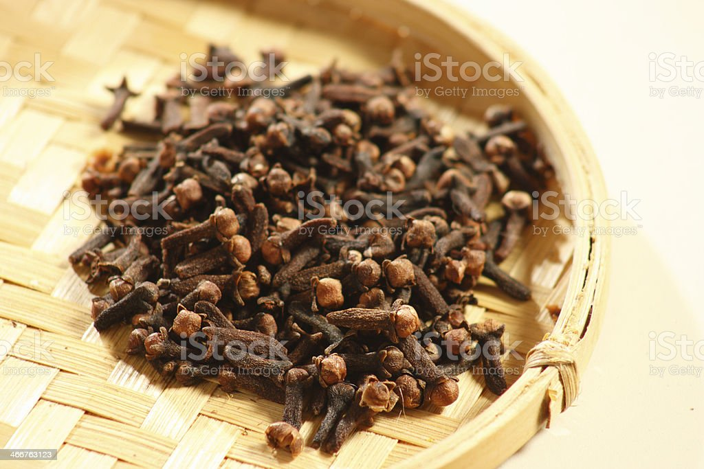 Cloves are the aromatic dried flower buds used in cooking royalty-free stock photo