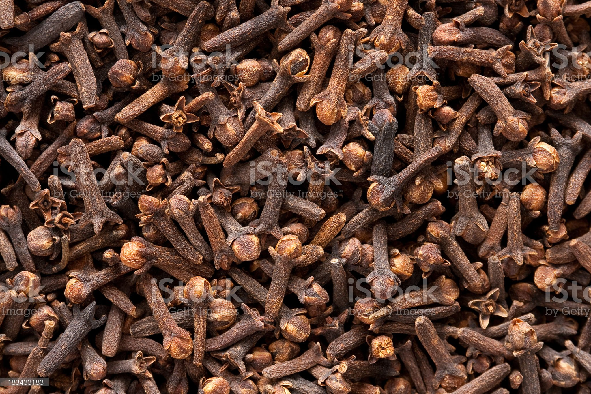 Cloves background royalty-free stock photo