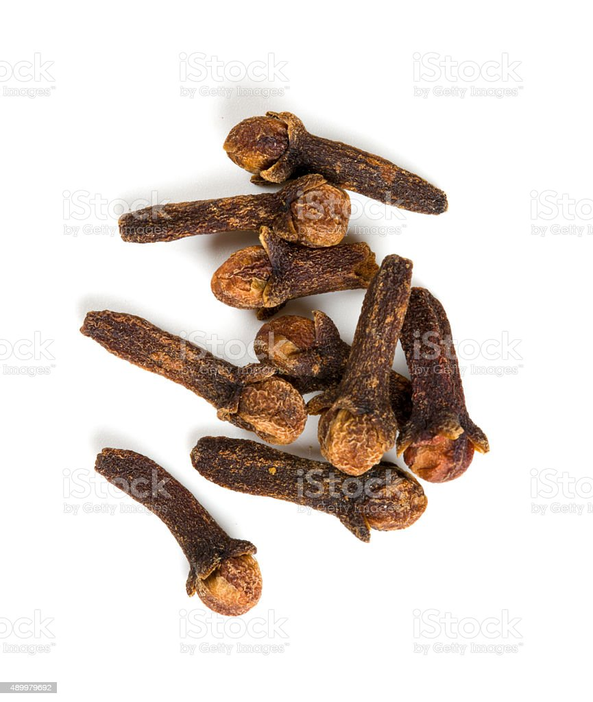 cloves isolated on white background stock photo