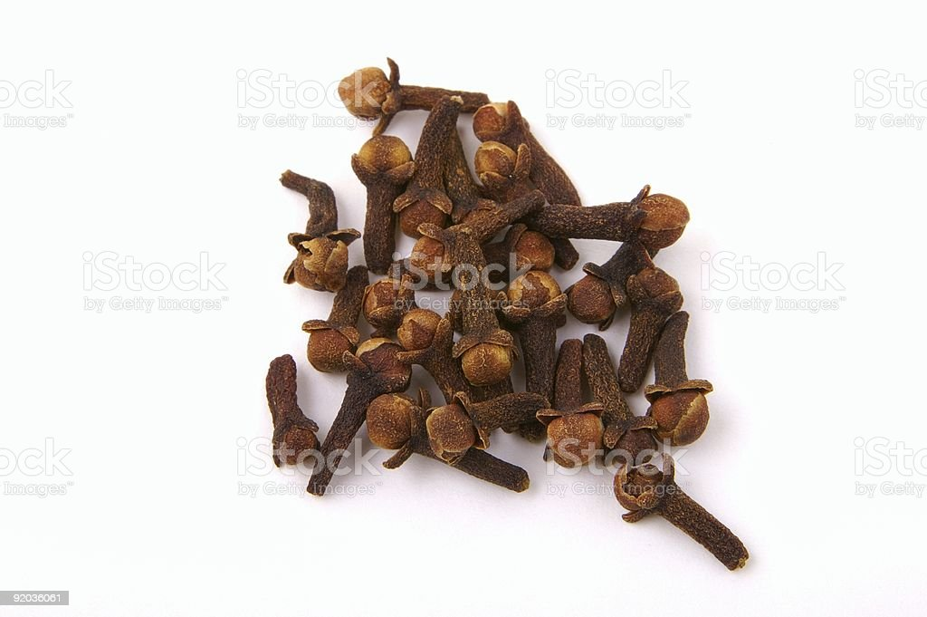 Cloves isolated on white royalty-free stock photo