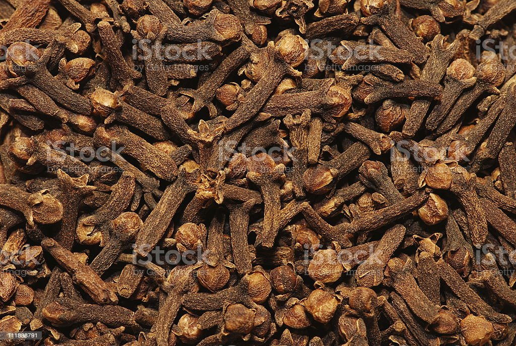 Cloves: natural background royalty-free stock photo