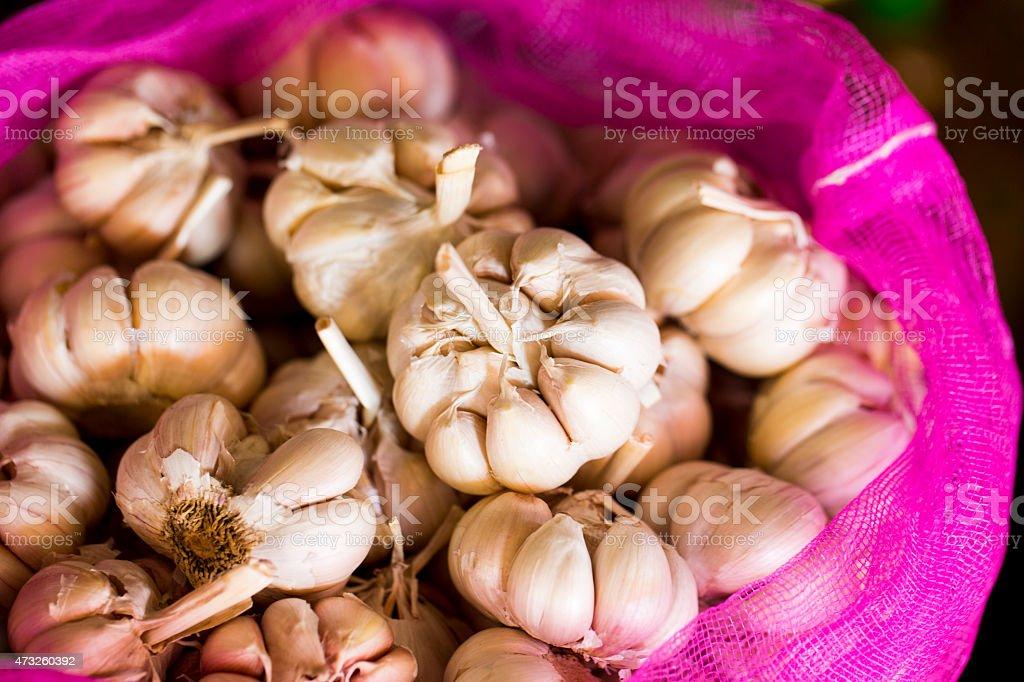 Cloves of Garlic stock photo
