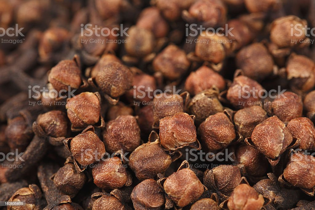 Cloves top view. royalty-free stock photo