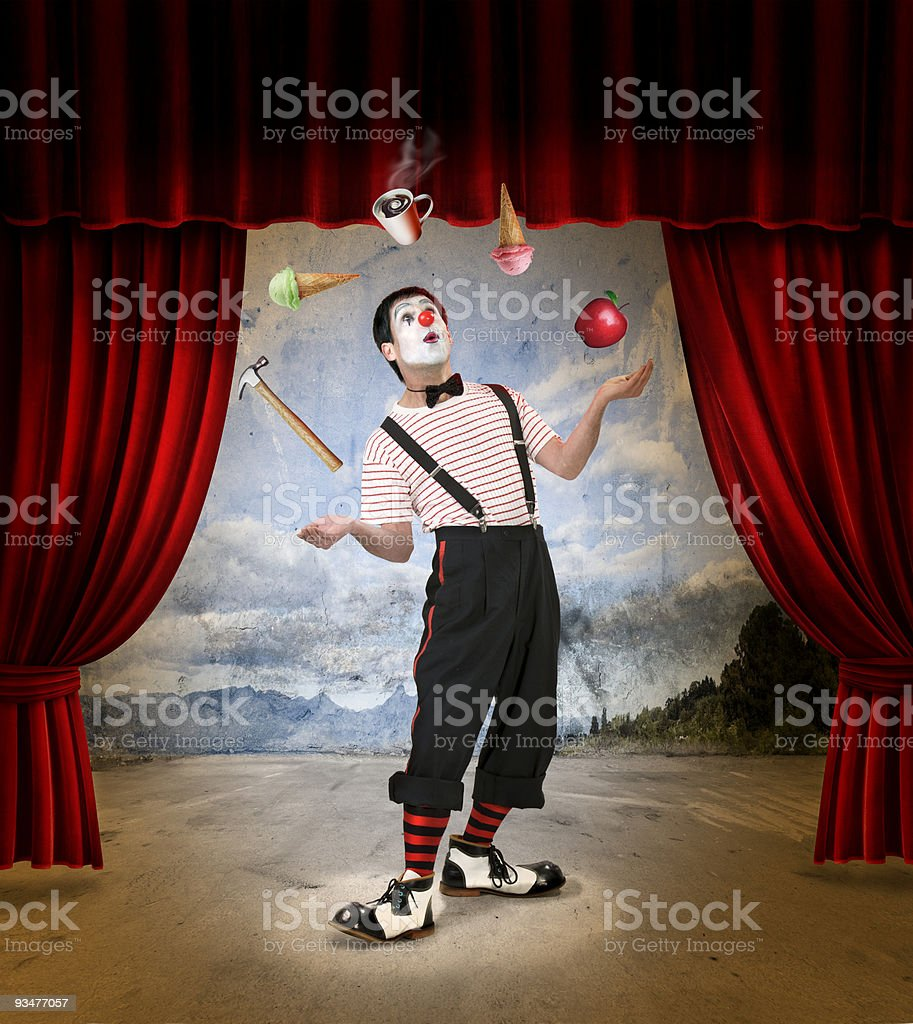 Clown 2 stock photo
