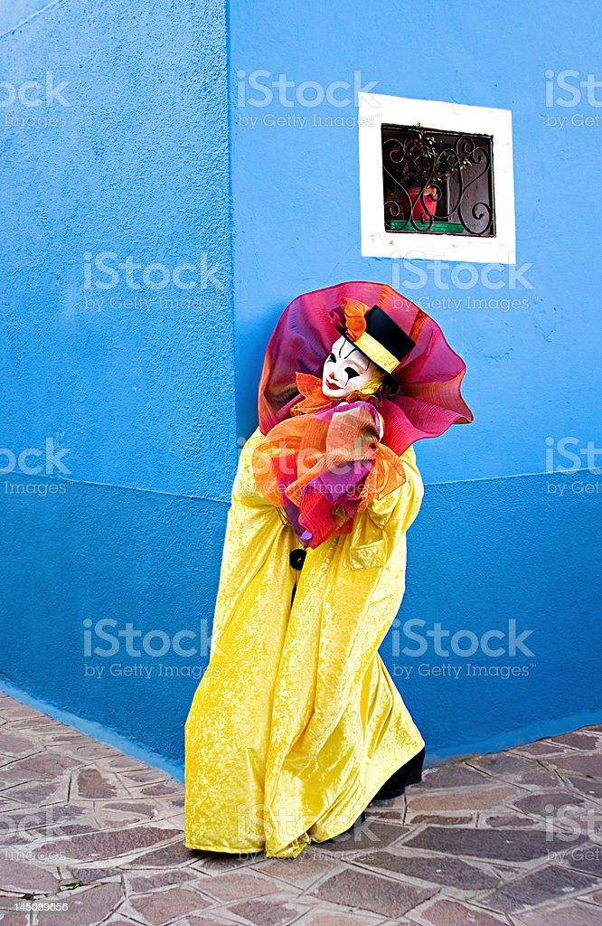 Clown around the corner royalty-free stock photo