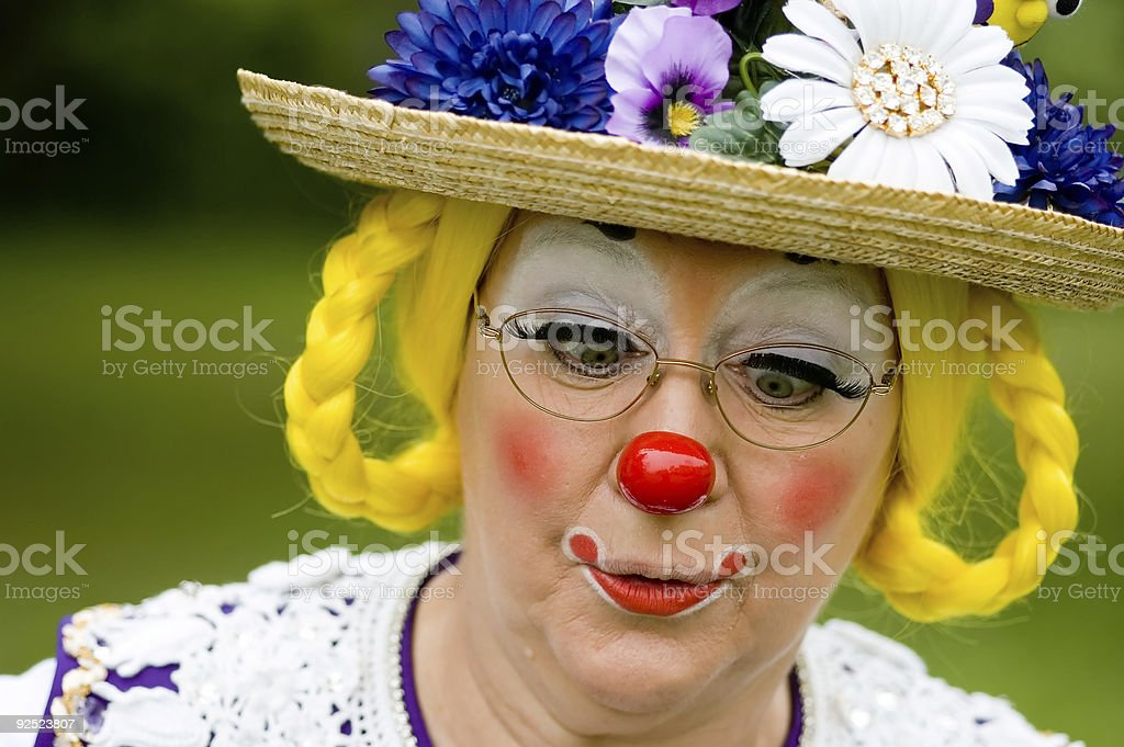Clown Cross Eyed and Having Fun royalty-free stock photo