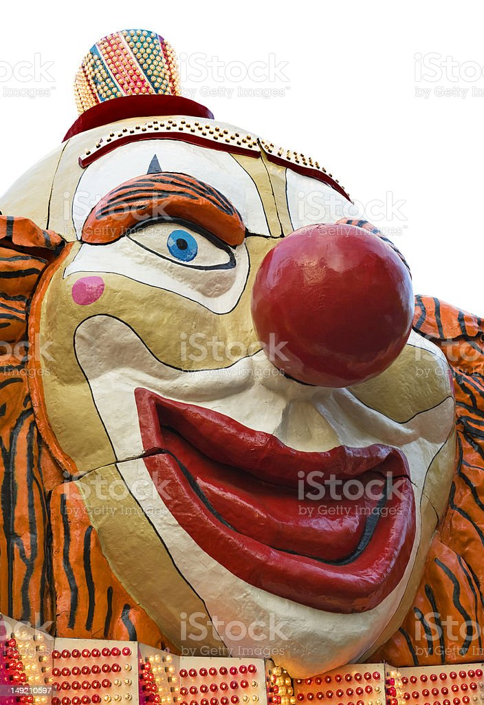 Clown face royalty-free stock photo