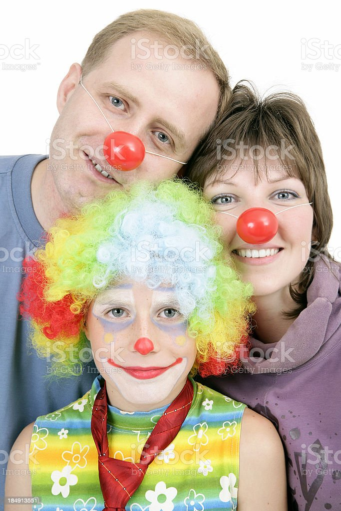 Clown family royalty-free stock photo