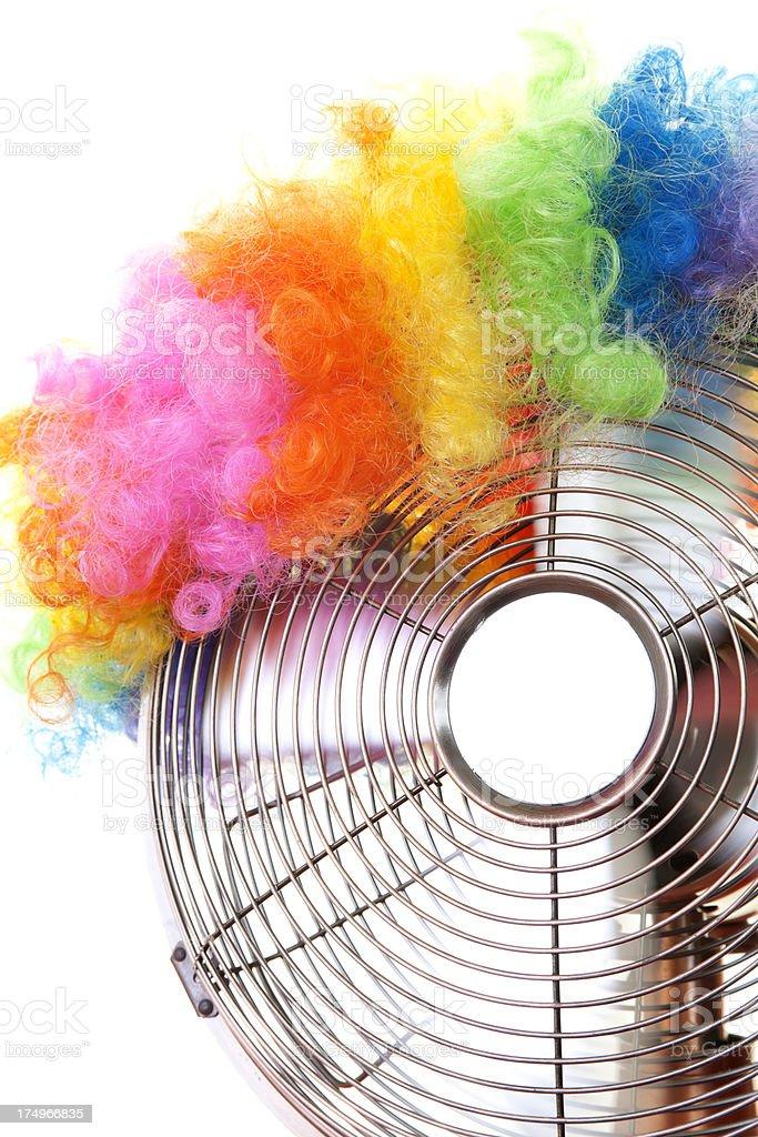clown fan royalty-free stock photo
