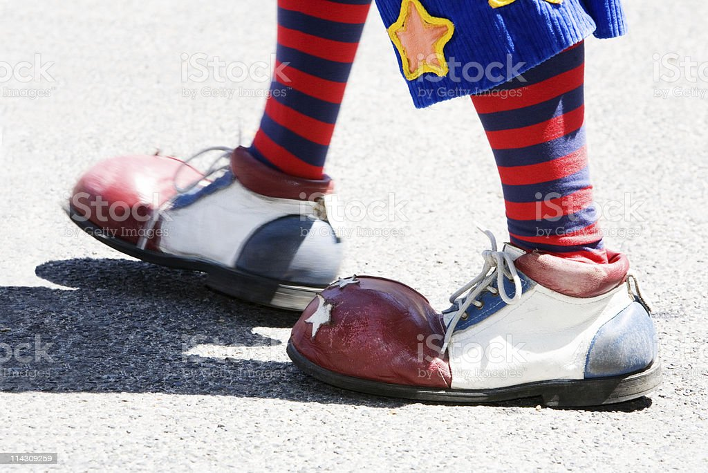Clown feet stock photo