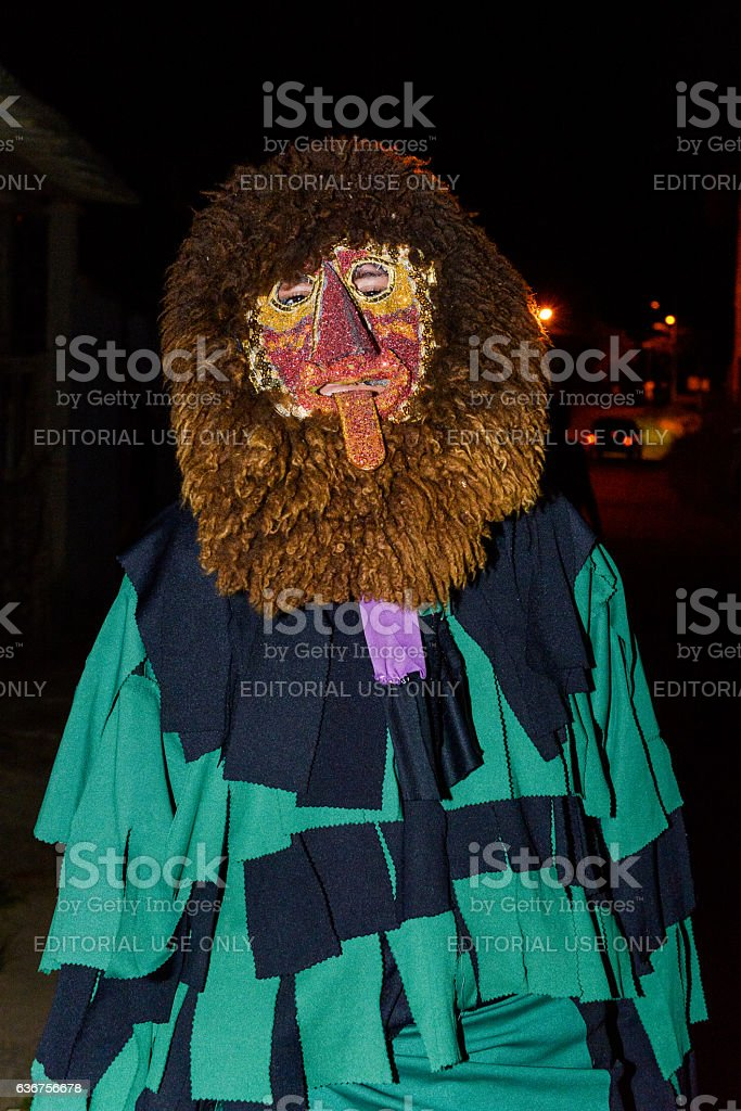 Clown, Folia de Reis tradition in Brazil stock photo