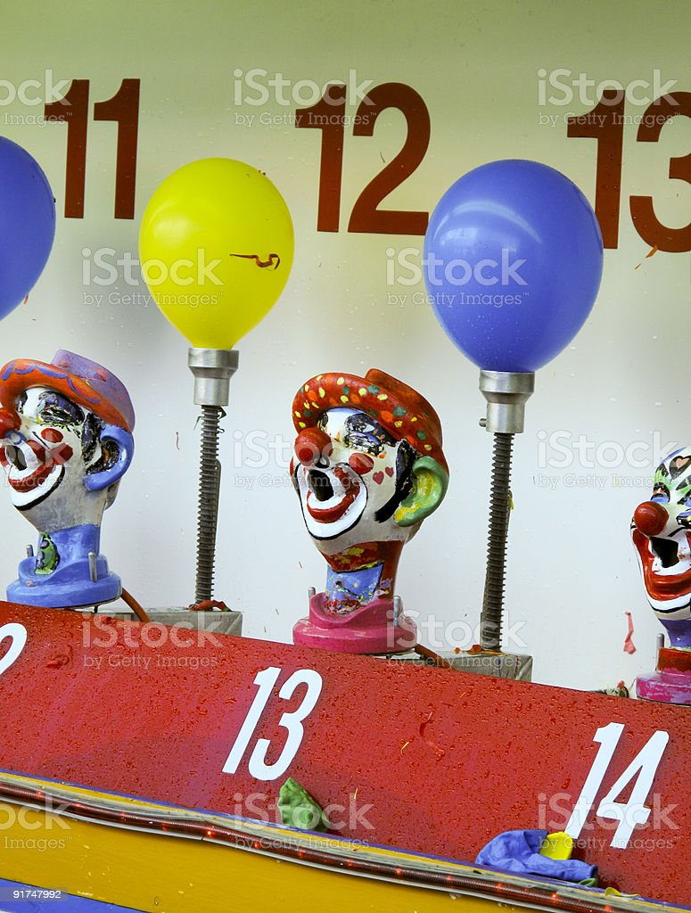 Clown game at Coney Island stock photo
