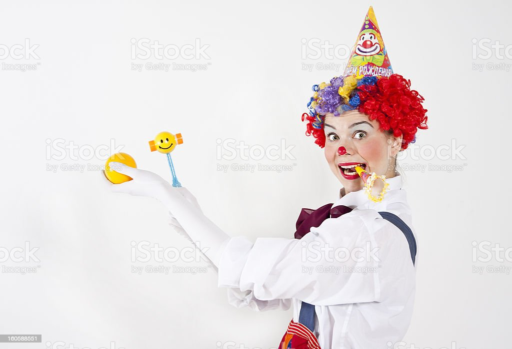 Clown girl stock photo