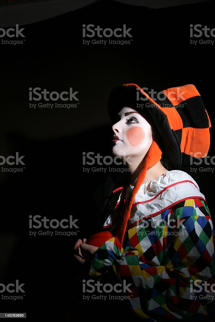clown in the dark royalty-free stock photo