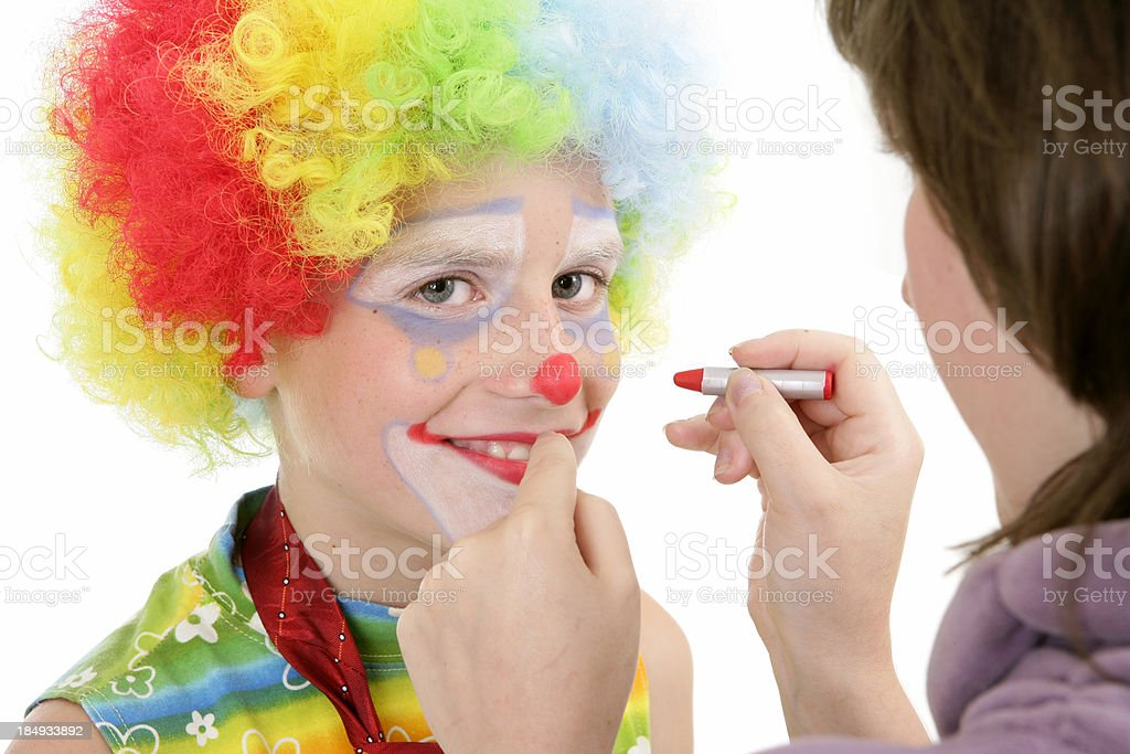 Clown make-up royalty-free stock photo