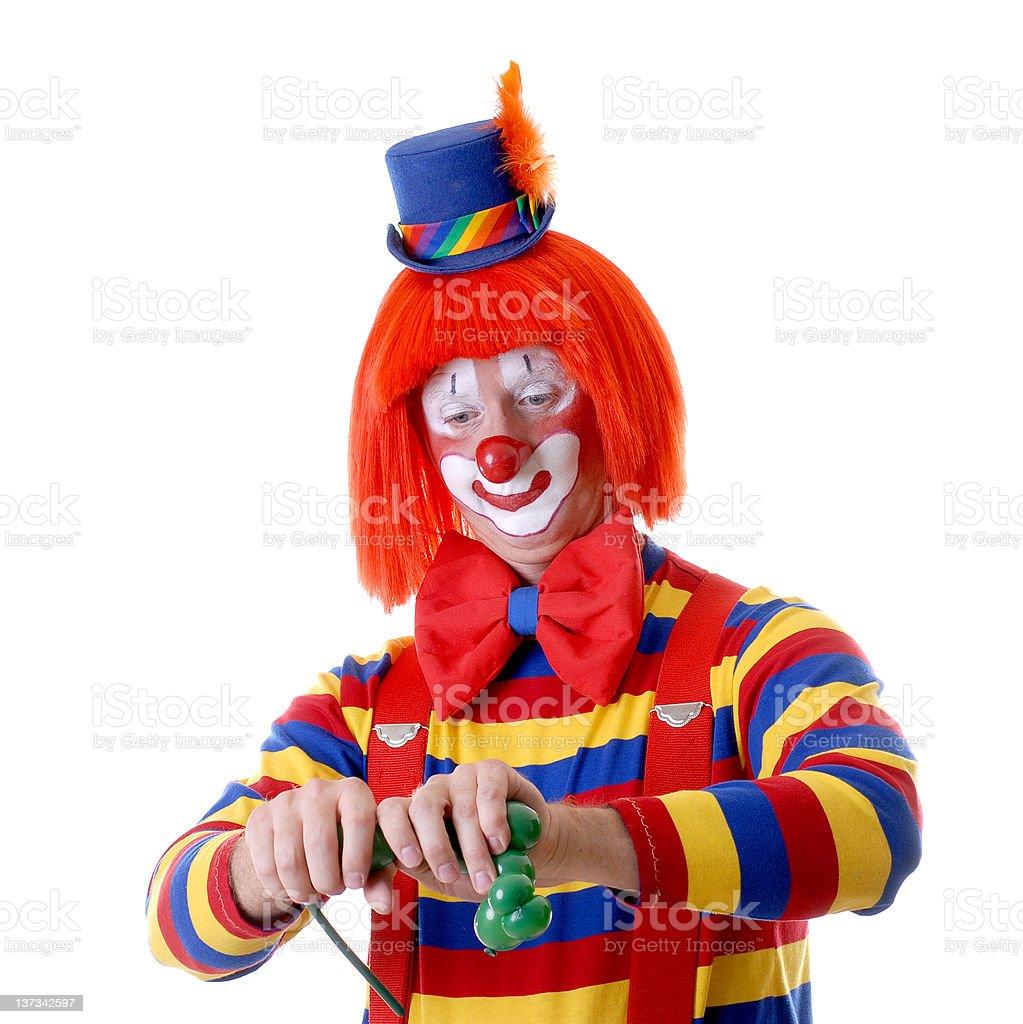 Clown Making Balloon Animals royalty-free stock photo