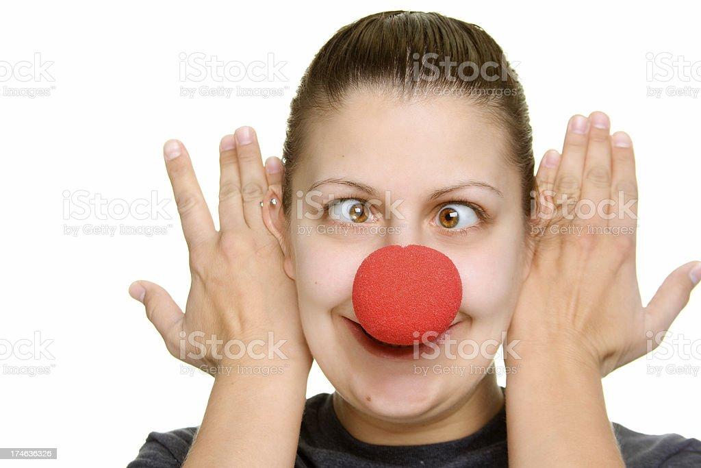 Clown Nose stock photo