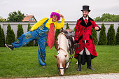 Clown, pony and the gentleman