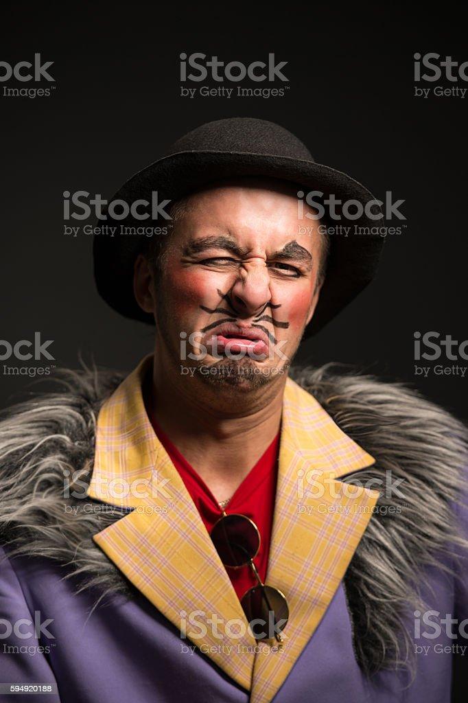 Clown Posing stock photo