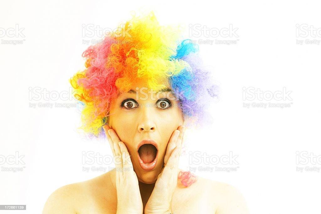 Clown Scream stock photo