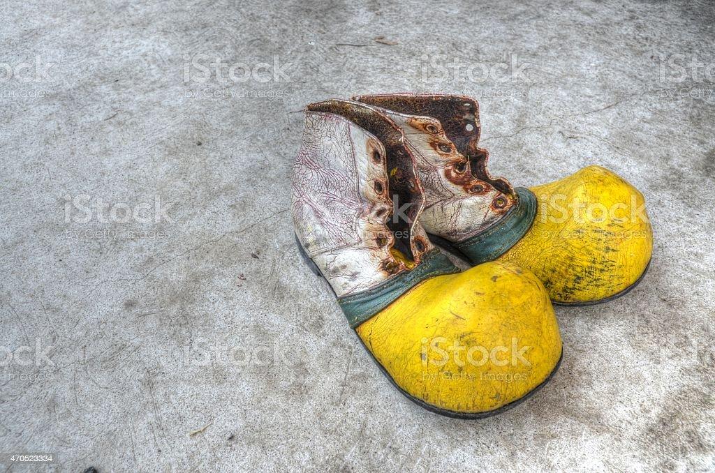 Клоун обувь Стоковые фото Стоковая фотография