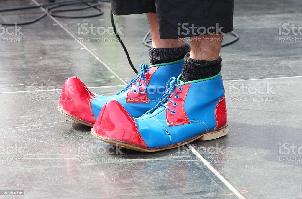 clown shoes stock photo