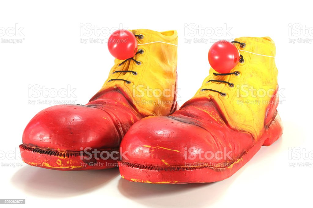 clown shoes with noses stock photo