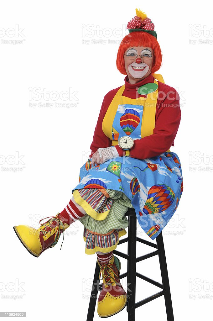 Clown Sitting and Smiling royalty-free stock photo