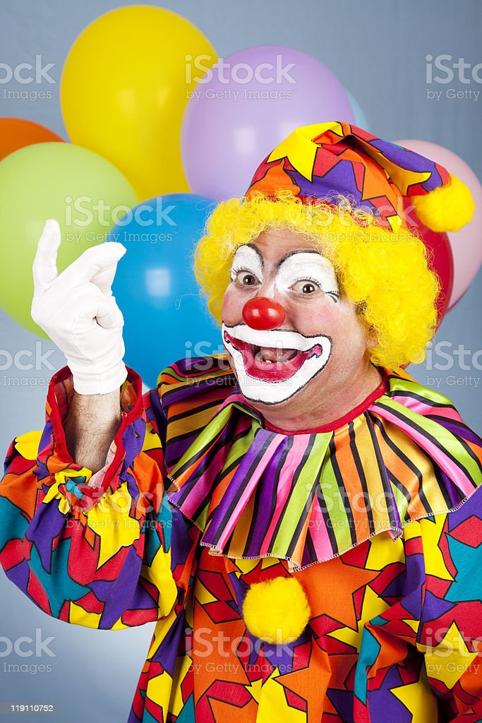 Clown Snapping Fingers royalty-free stock photo