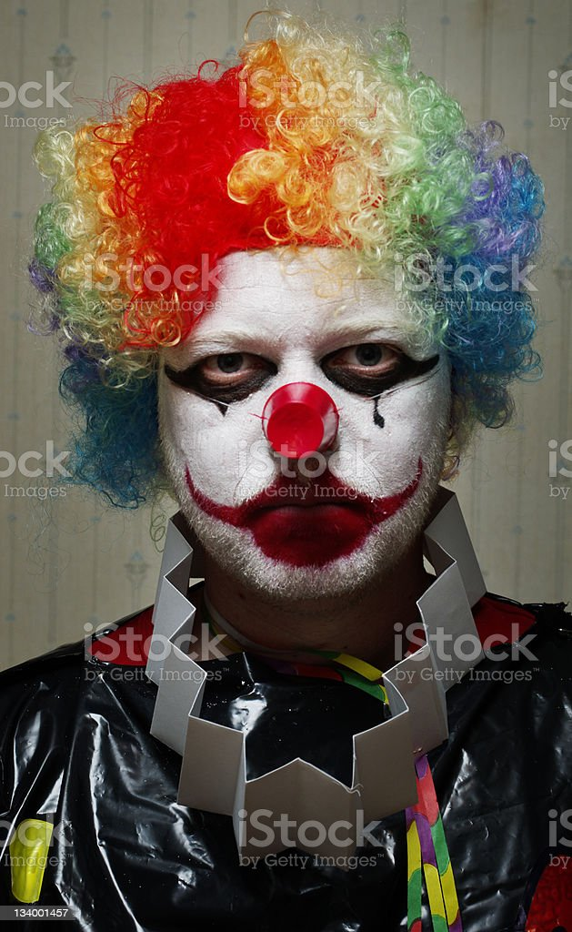 Clown with a serious facial expression royalty-free stock photo