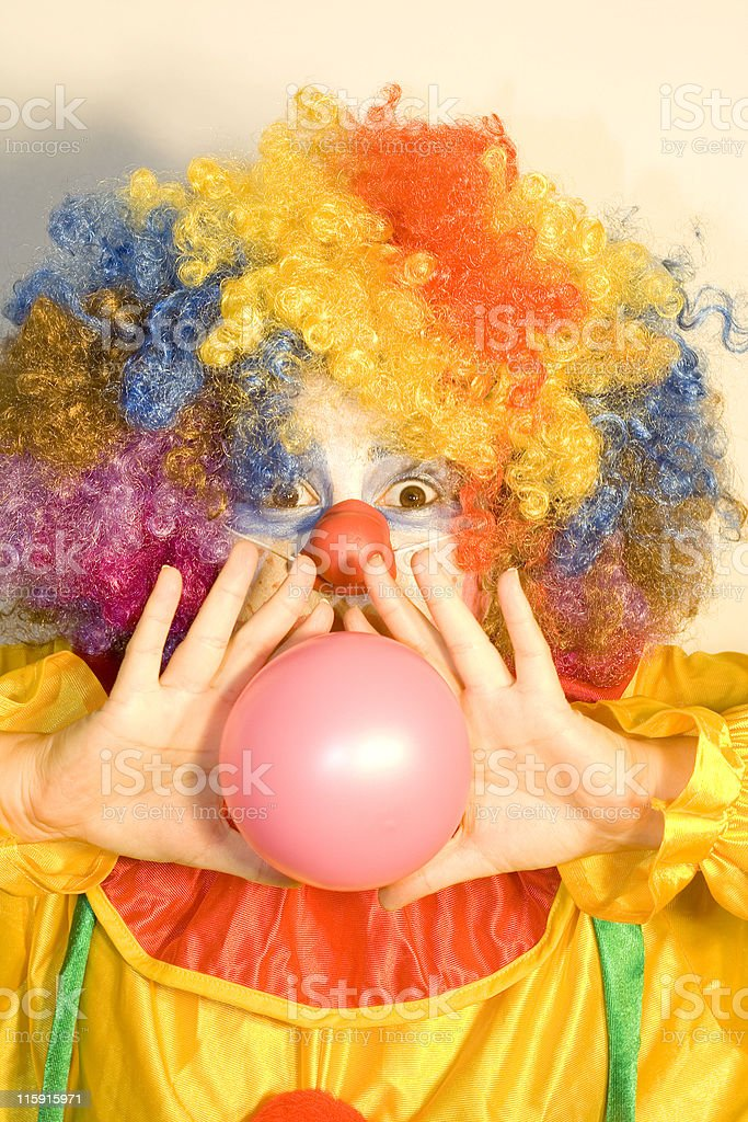 clown with balloon royalty-free stock photo