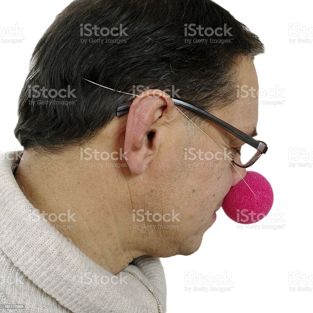 Clown with red nose. royalty-free stock photo