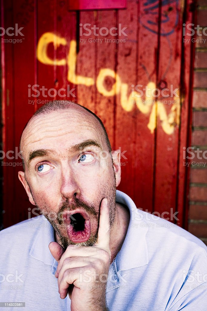 Clowning about stock photo