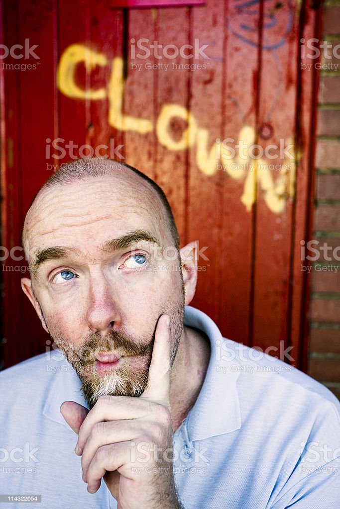 Clowning about royalty-free stock photo