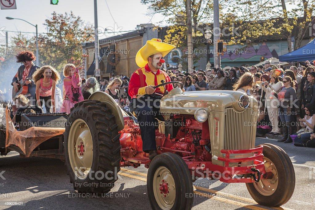 clowning around at the Halloween Parade stock photo